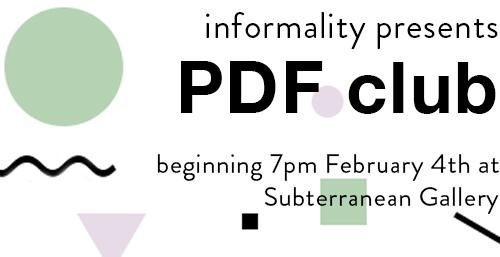 Informality & Subterranean Gallery Collaborative Program!
