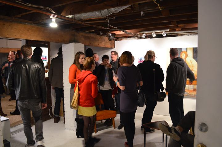 Shot from Curatorial Studies opening at Subterranean Gallery. Image credit: Clayton Skidmore and Ayla Rexroth
