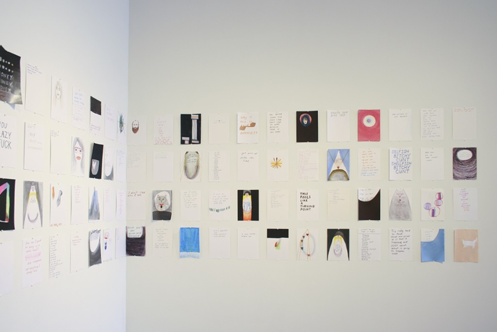 Installation shot of Brook Inman's work