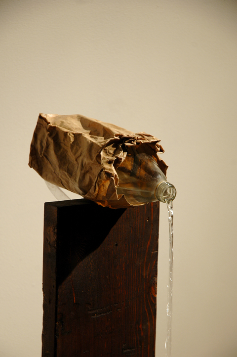 moscarella-_-40oz-pour-2011-detail-_42x18-_40oz-glass-bottle-brown-paper-bag-wood-water-pump-malt-liquor