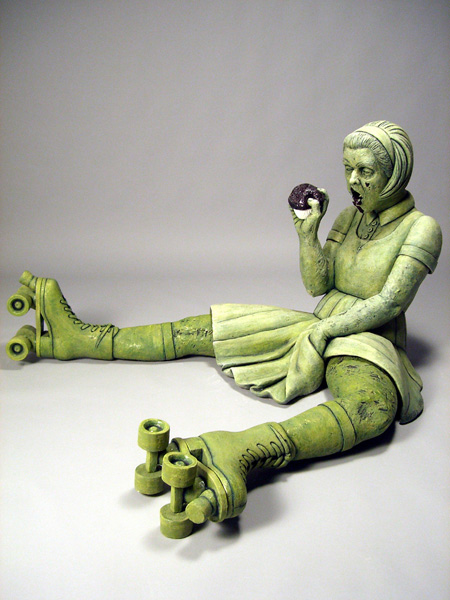Betsy After School by Misty Gamble. Ceramic. Image courtesy of the artist.