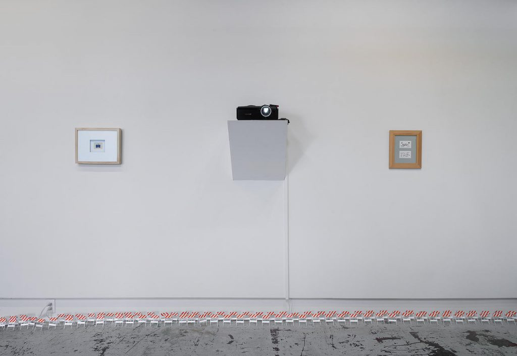 Oli Watt, Dear Prudence, 2001 Acrylic ink on polystyrene Dimensions Variable & Business Cards, 1998-present Offset prints 9 in. x 12 in. Photo by E.G. Schempf