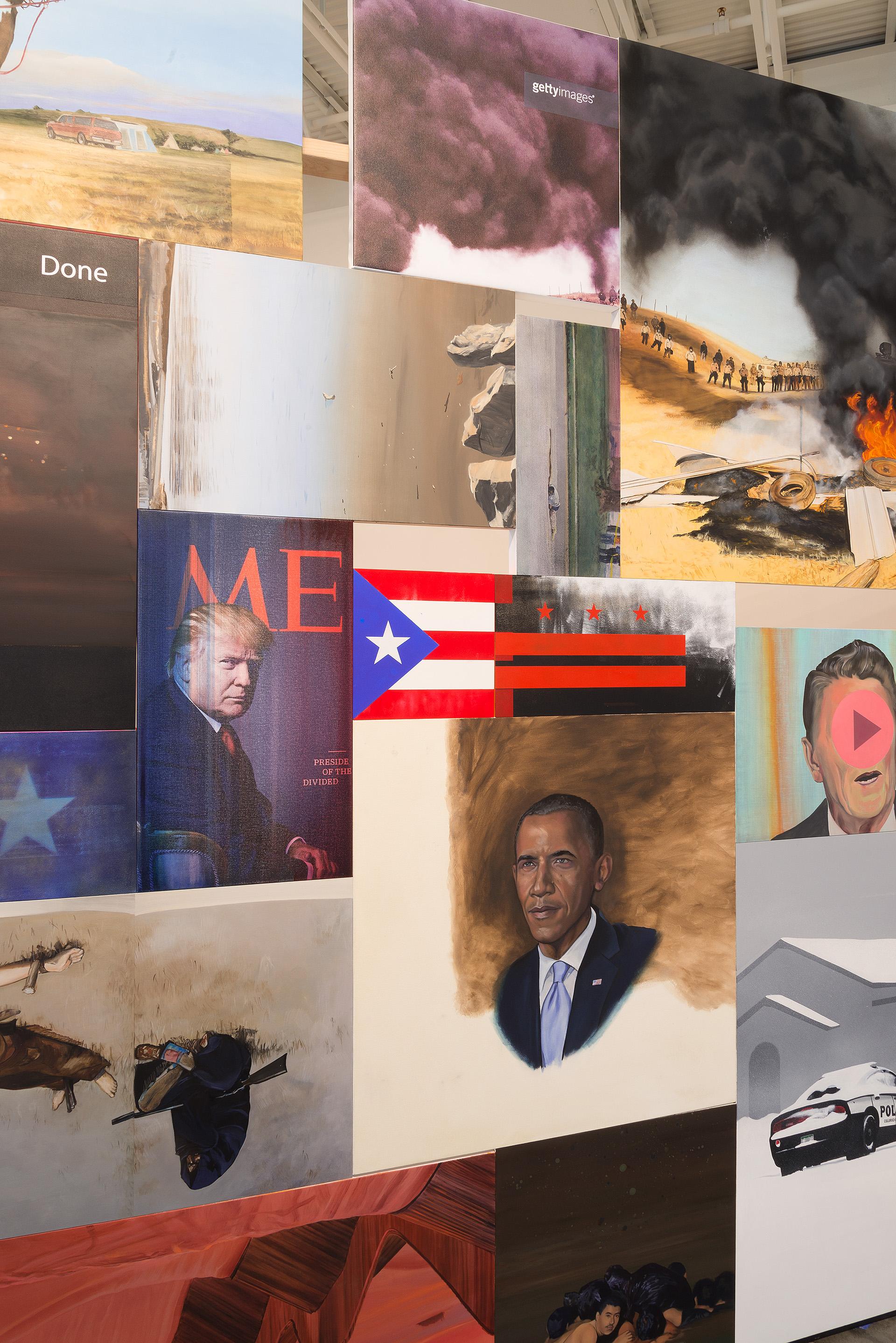 """""""Picture the Wall"""" installation. Image Courtesy E G Schempf"""