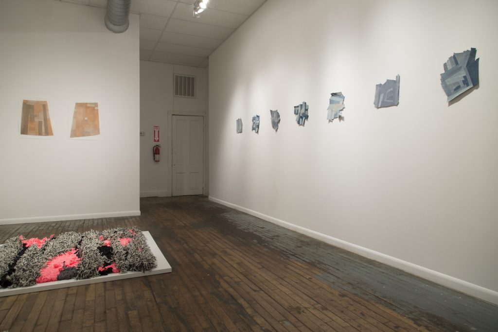 Install shot of Lexie Abra Johnson's The Rugmakers Daughter at PLUG Projects. Image courtesy of the gallery.