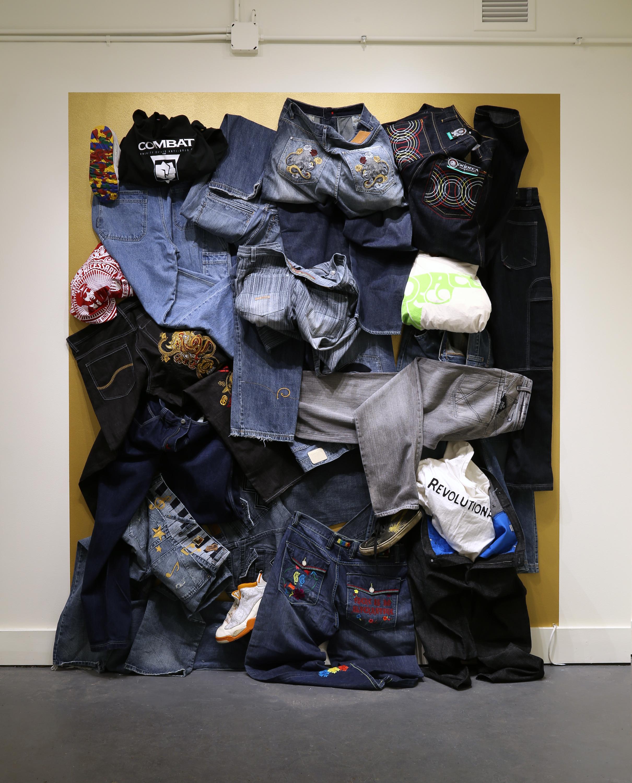 Denim's Social Construction:    William Toney at Kiosk Gallery